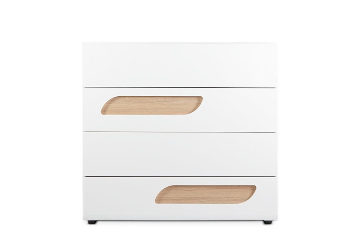 Komoda z szufladami 110 cm w stylu skandynawskim biała