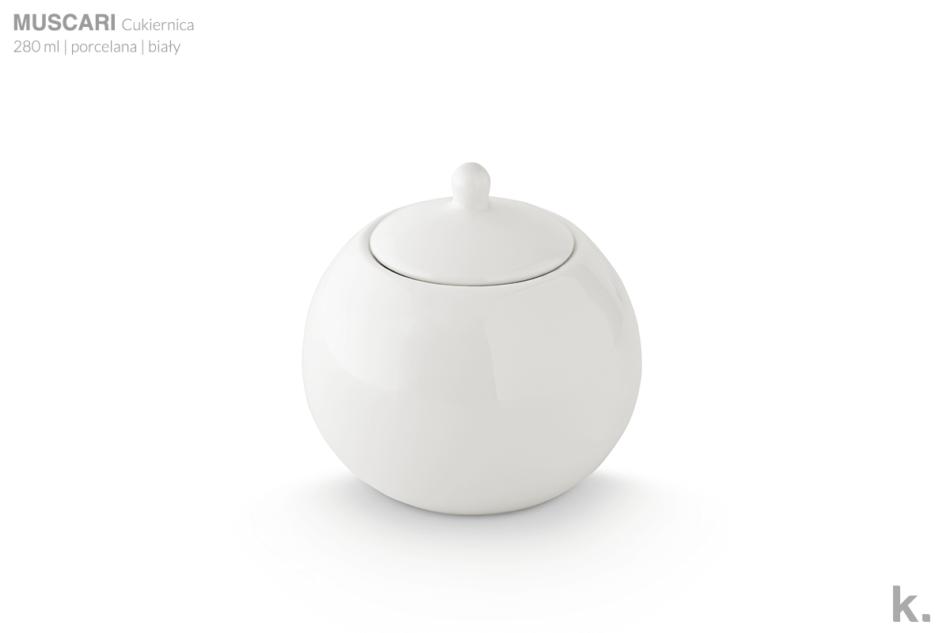 MUSCARI Serwis herbaciany porcelana dla 6 osób biała biały - zdjęcie 7