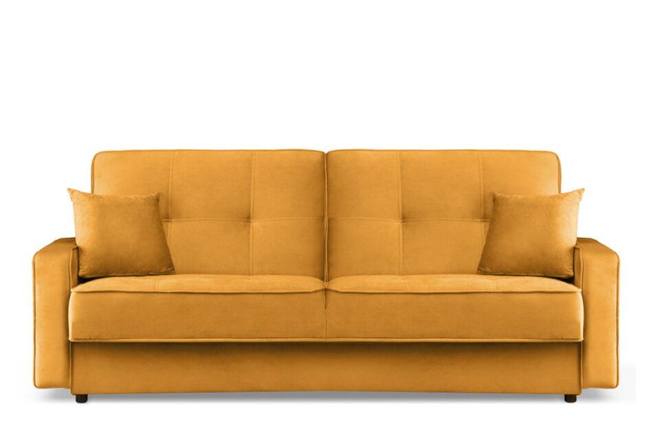 ORIO Żółta rozkładana kanapa do salonu welur żółty - zdjęcie 0