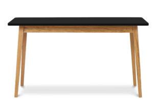 FRISK, https://konsimo.pl/kolekcja/frisk/ Rozkładany stół w stylu skandynawskim antracyt/dąb naturalny - zdjęcie