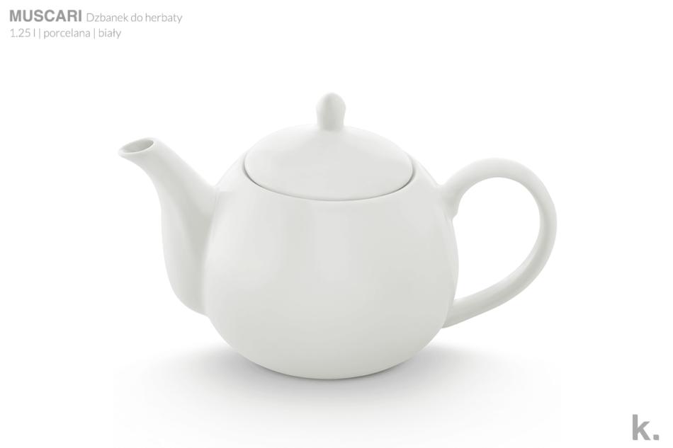 MUSCARI Serwis herbaciany porcelana dla 6 osób biała biały - zdjęcie 6