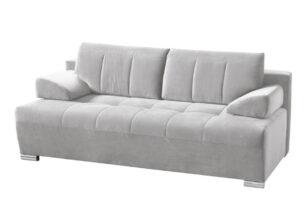 TANTO, https://konsimo.pl/kolekcja/tanto/ Nowoczesna pikowana sofa rozkładana jasnoszara jasny szary - zdjęcie