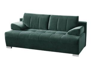 TANTO, https://konsimo.pl/kolekcja/tanto/ Nowoczesna pikowana sofa rozkładana ciemnozielona zielony - zdjęcie