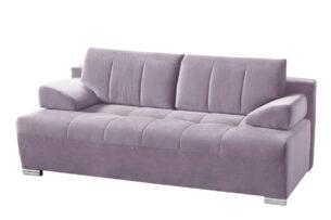 TANTO, https://konsimo.pl/kolekcja/tanto/ Nowoczesna pikowana sofa rozkładana różowa różowy - zdjęcie