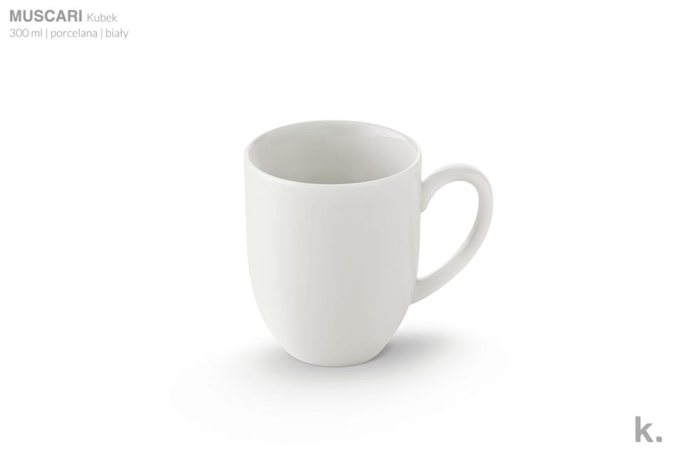 MUSCARI Serwis herbaciany porcelana dla 6 osób biała biały - zdjęcie 5