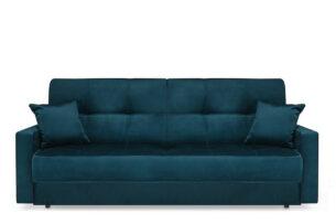 ORIO, https://konsimo.pl/kolekcja/orio/ Granatowa rozkładana kanapa do salonu welur turkusowy - zdjęcie