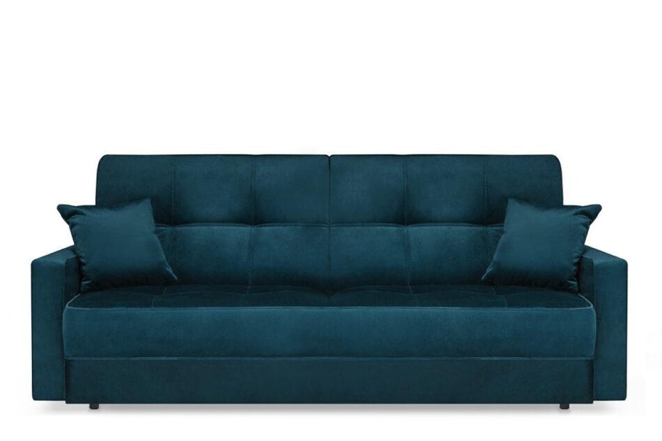ORIO Granatowa rozkładana kanapa do salonu welur turkusowy - zdjęcie 0