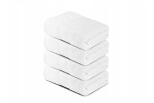 LENTE, https://konsimo.pl/kolekcja/lente/ Komplet ręczników średnich 4 szt. biały - zdjęcie