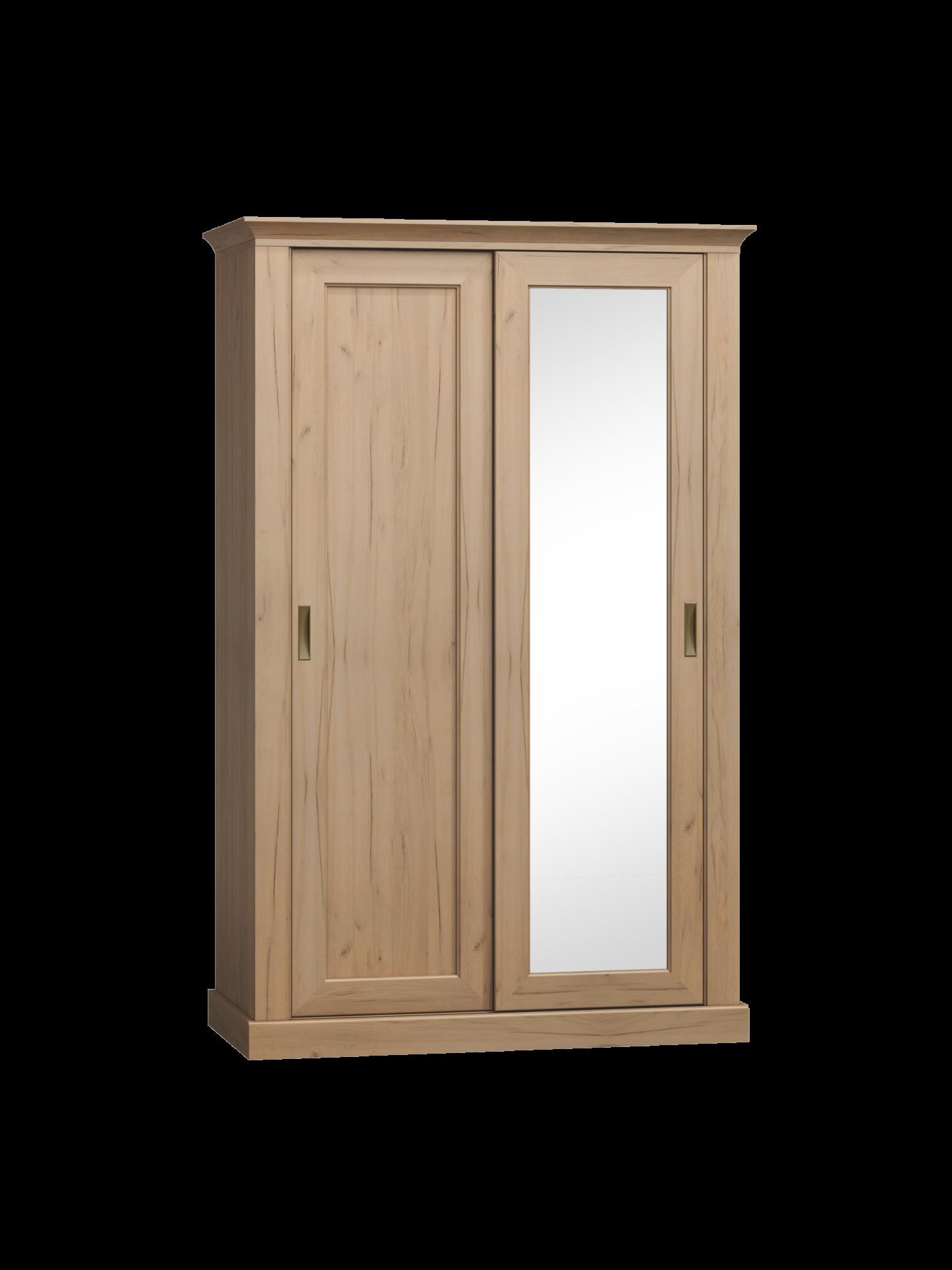 Szafa z drzwiami przesuwnymi w stylu klasycznym szary jesion