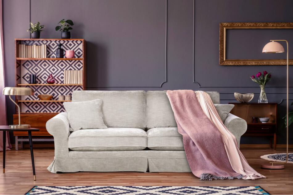 PURRO Sofa ze zdejmowanym pokrowcem beżowa beżowy - zdjęcie 1