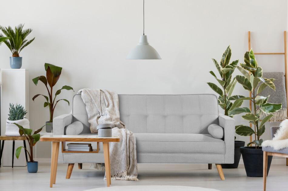 RUCO Rozkładana kanapa z funkcją spania jasnoszara jasny szary - zdjęcie 1
