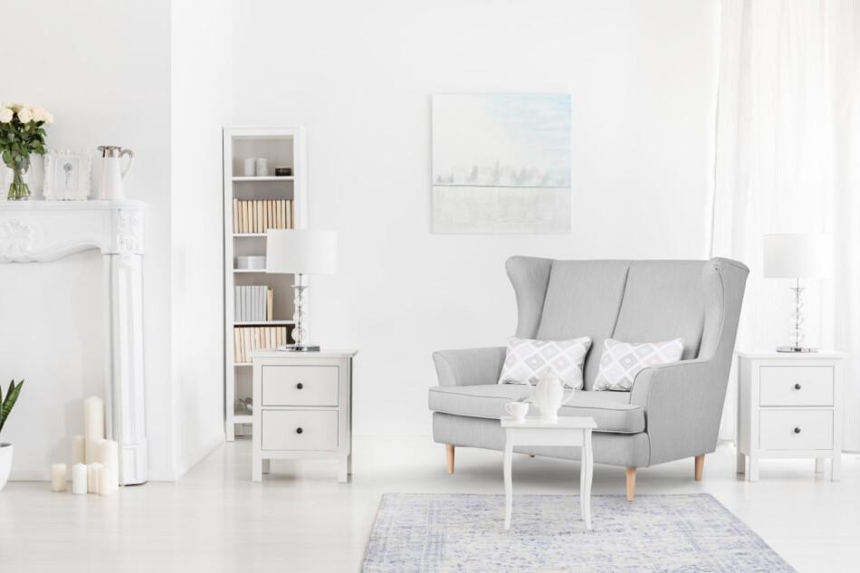STRALIS Skandynawska sofa dwuosobowa szara na nóżkach szary - zdjęcie 2