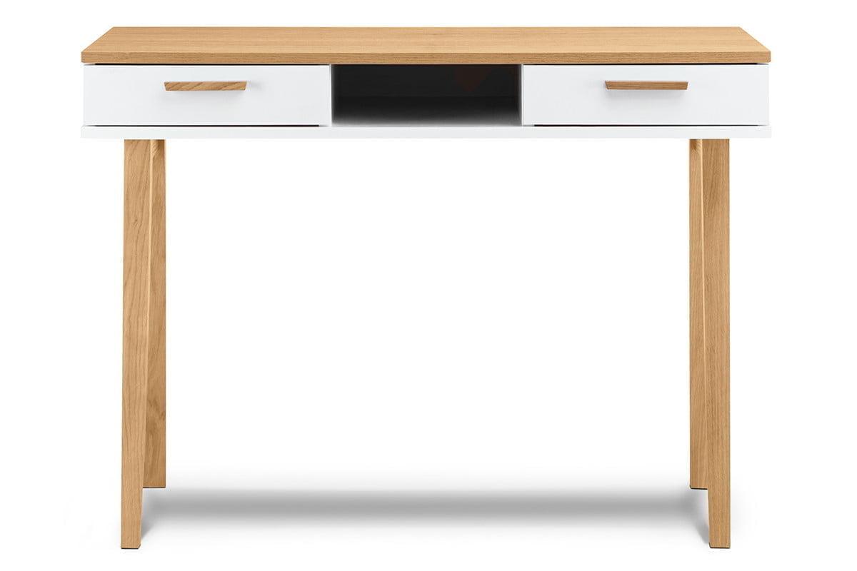 Białe biurko skandynawskie