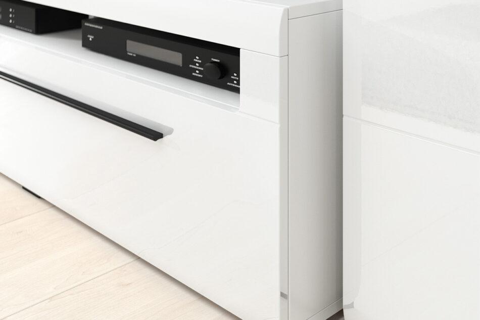 TULSA Komoda z witryną 180 cm w stylu modern biały połysk biały połysk - zdjęcie 4