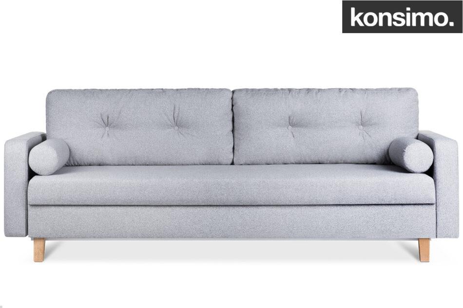 ERISO Szara sofa 3 osobowa rozkładana jasny szary - zdjęcie 9