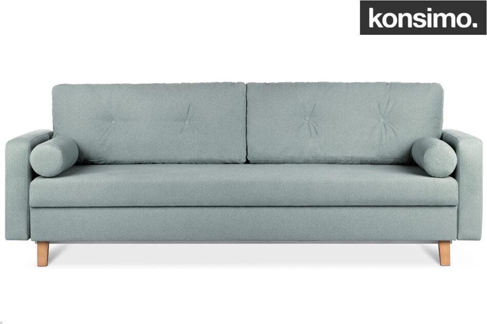ERISO Zielona sofa 3 osobowa rozkładana miętowy - zdjęcie 10