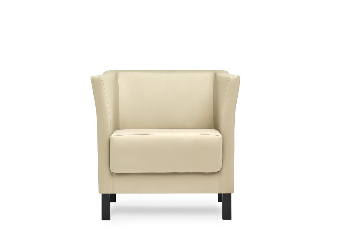 Fotel do poczekalni ekoskóra ecru