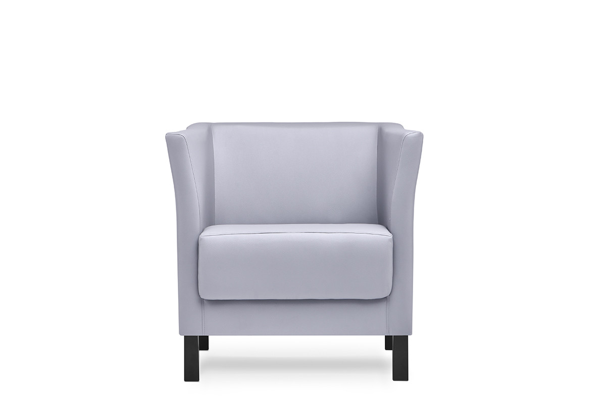 Fotel do poczekalni ekoskóra szary