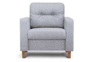 ERISO, https://konsimo.pl/kolekcja/eriso/ Szary fotel do salonu jasny szary - zdjęcie