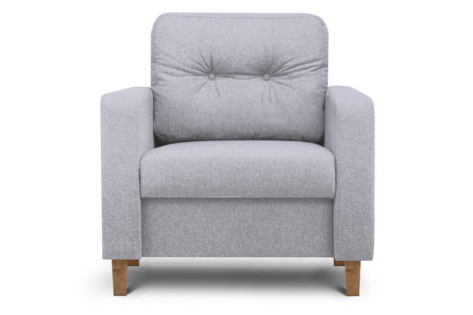 ERISO Szary fotel do salonu jasny szary - zdjęcie 0