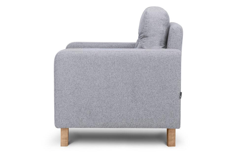 ERISO Szary fotel do salonu jasny szary - zdjęcie 2