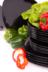 GRESI Nowoczesny zestaw obiadowy dla 6 osób czarny czarny - zdjęcie 10