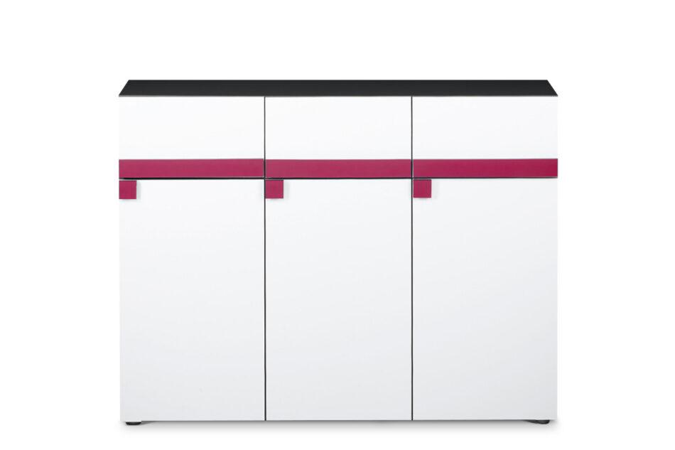 SHIBU Pojemna komoda dla dziecka grafit/biały/różowy - zdjęcie 0