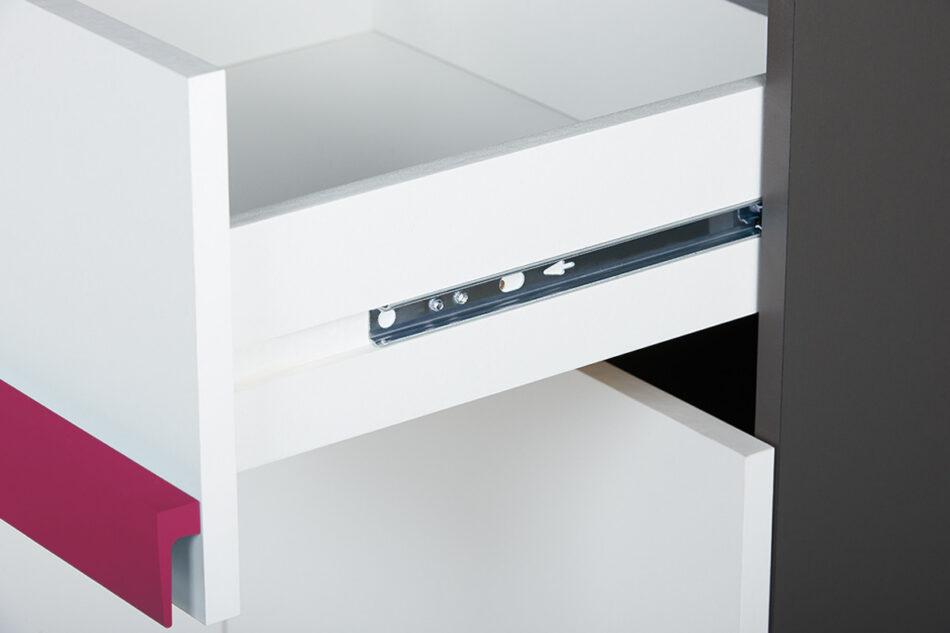 SHIBU Pojemna komoda dla dziecka grafit/biały/różowy - zdjęcie 1