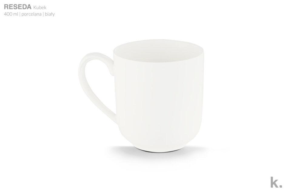 RESEDA Zestaw śniadaniowy porcelanowy dla 4 osób biały biały - zdjęcie 7