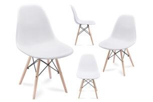 NEREA, https://konsimo.pl/kolekcja/nerea/ 4 białe krzesła skandynawskie biały - zdjęcie