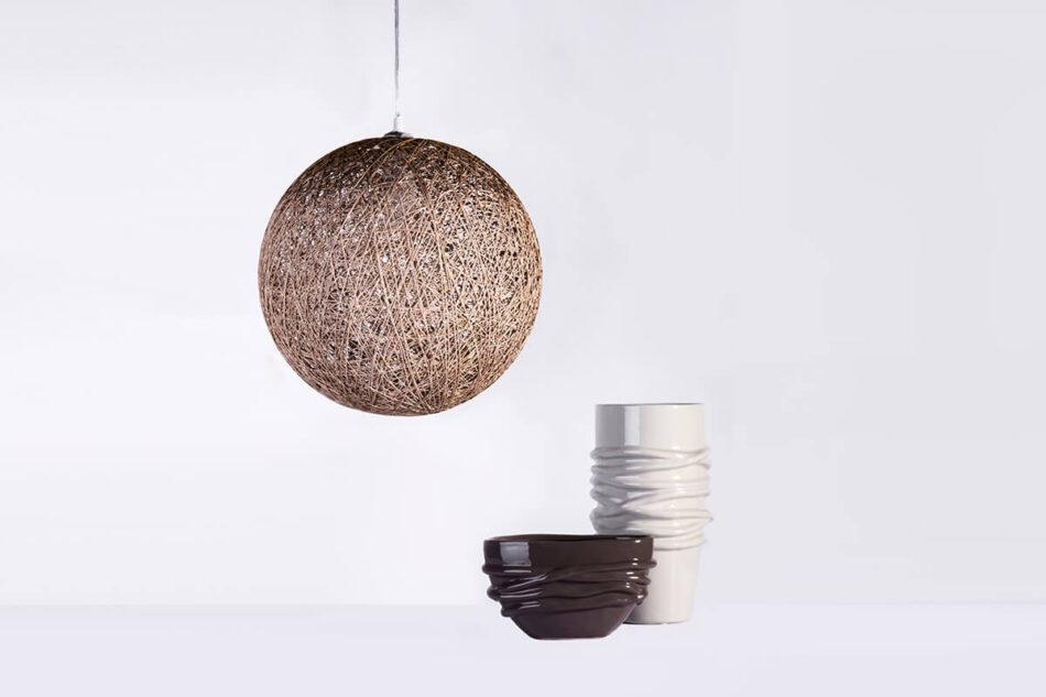 BRASSI Lampa wisząca biały matowy/beżowy - zdjęcie 1