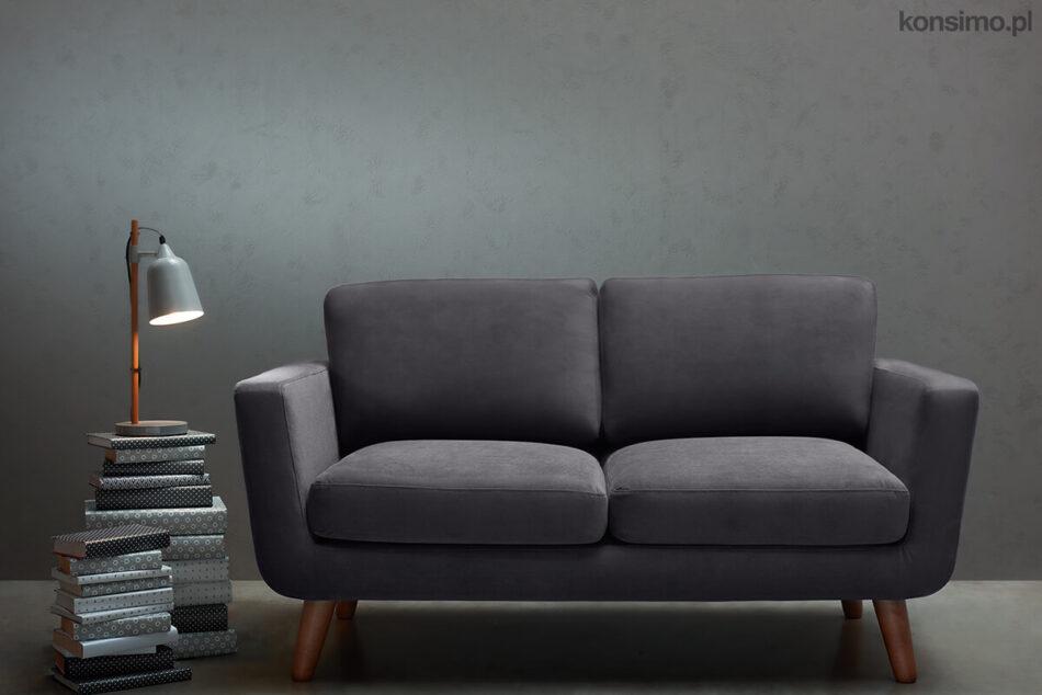 TAGIO Szara skandynawska sofa 2 osobowa szary - zdjęcie 9
