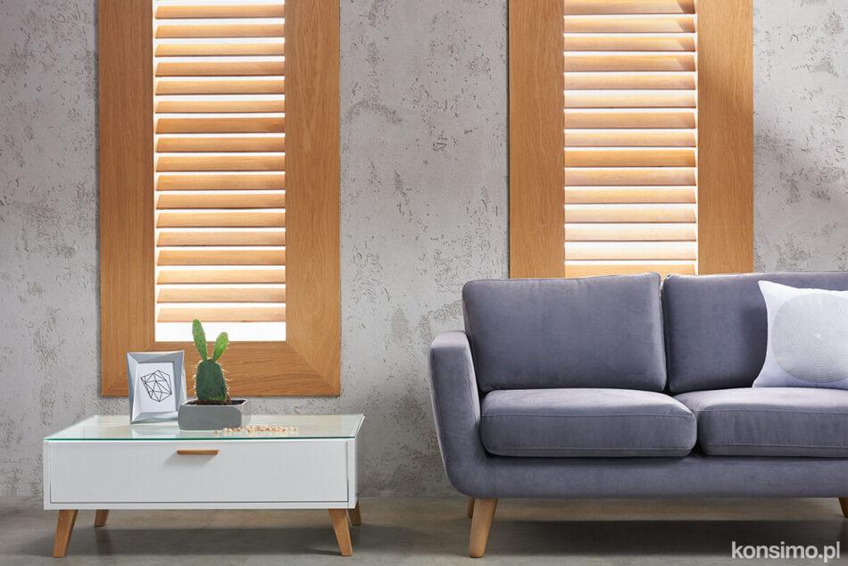 TAGIO Szara skandynawska sofa 3 osobowa szary - zdjęcie 9