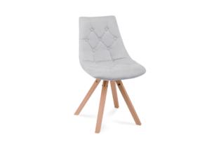 KENO, https://konsimo.pl/kolekcja/keno/ Skandynawskie krzesło na drewnianym stelażu szare jasny szary - zdjęcie