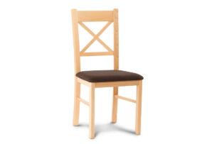 CRAM, https://konsimo.pl/kolekcja/cram/ Proste krzesło drewniane krzyżak buk tkanina pleciona ciemny brąz buk/ciemny brąz - zdjęcie