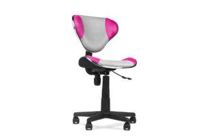 LIDRIS, https://konsimo.pl/kolekcja/lidris/ Krzesło obrotowe szary/różowy - zdjęcie