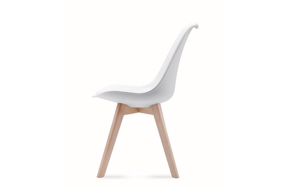 BESO Komplet 4 białych krzeseł plastikowych biały - zdjęcie 3