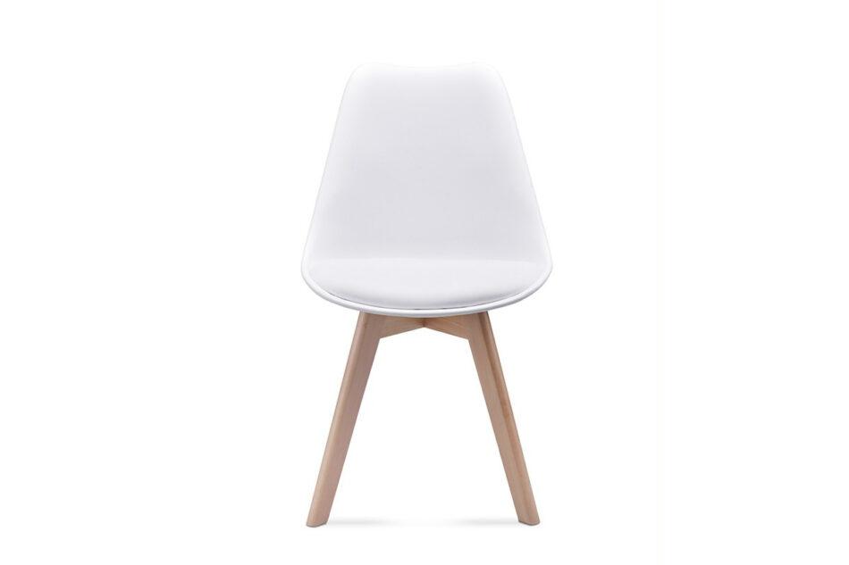 BESO Komplet 4 białych krzeseł plastikowych biały - zdjęcie 1