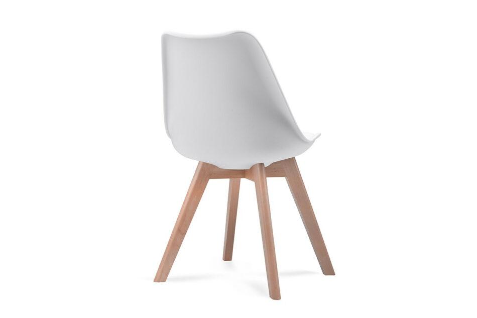 BESO Komplet 4 białych krzeseł plastikowych biały - zdjęcie 4