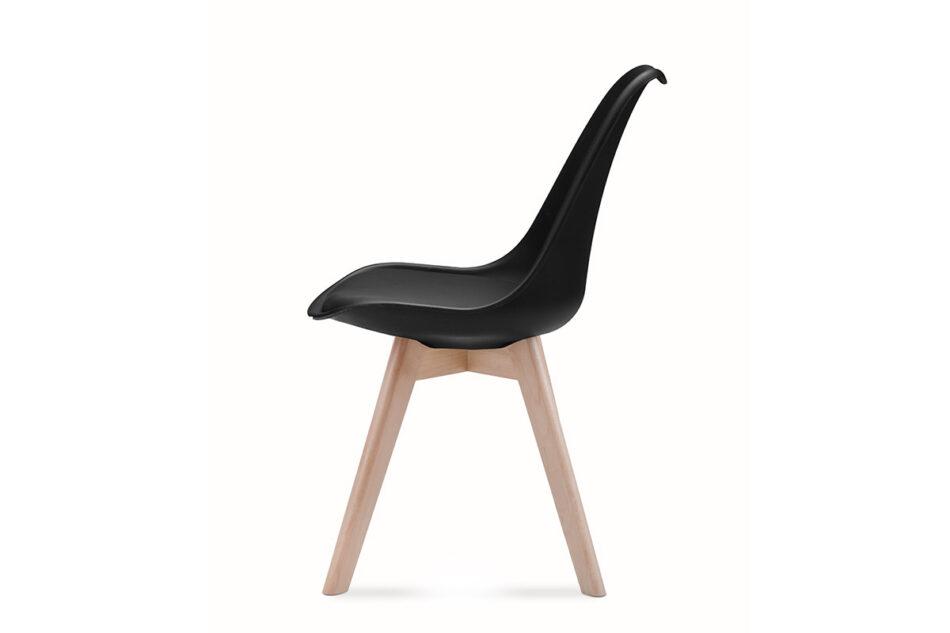 BESO Proste plastikowe krzesło na drewnianym stelażu czarne czarny - zdjęcie 7