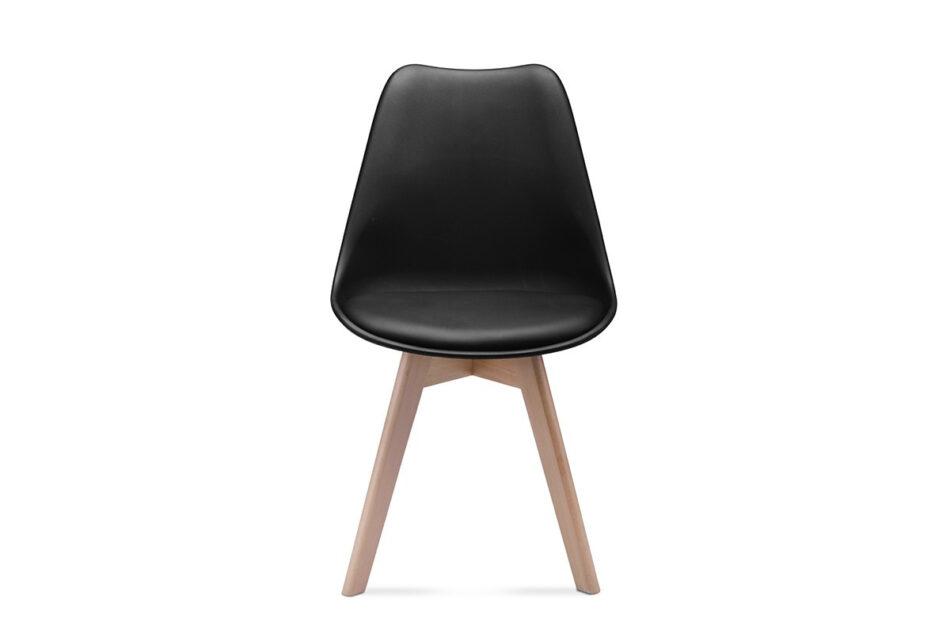 BESO Komplet 4 czarnych krzeseł plastikowych czarny - zdjęcie 1