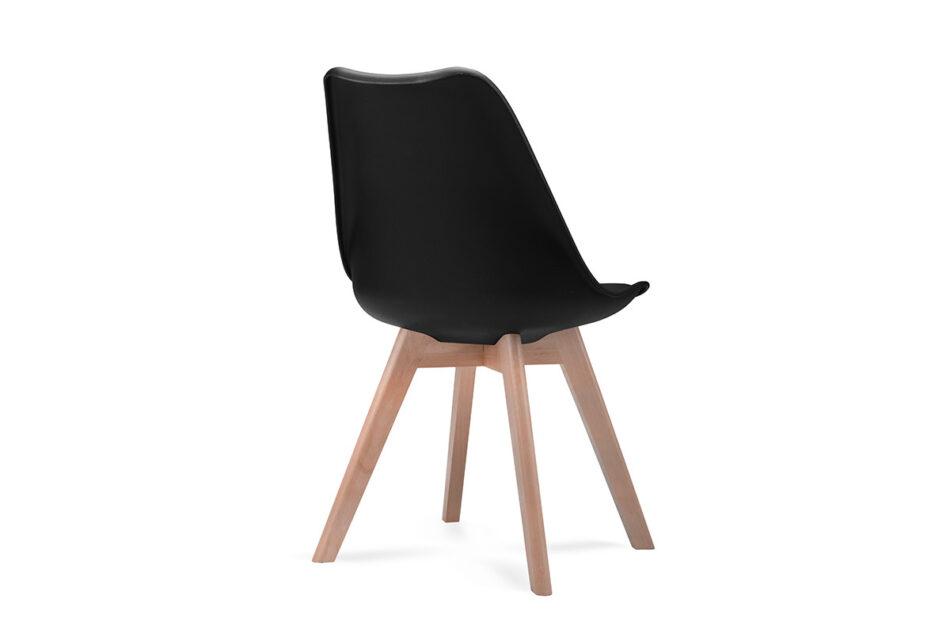 BESO Proste plastikowe krzesło na drewnianym stelażu czarne czarny - zdjęcie 5