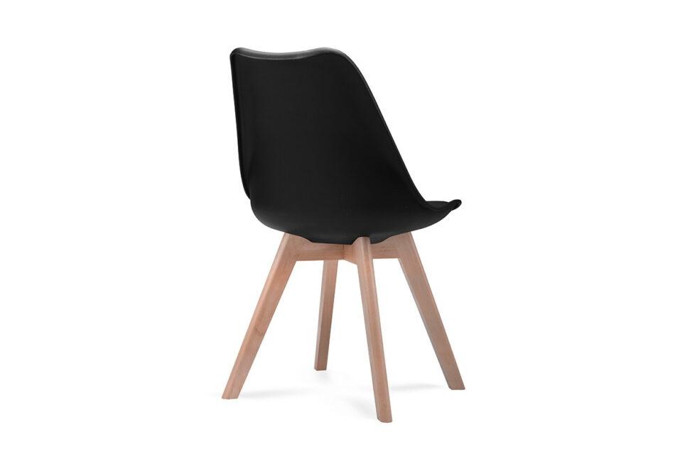 BESO Komplet 4 czarnych krzeseł plastikowych czarny - zdjęcie 4