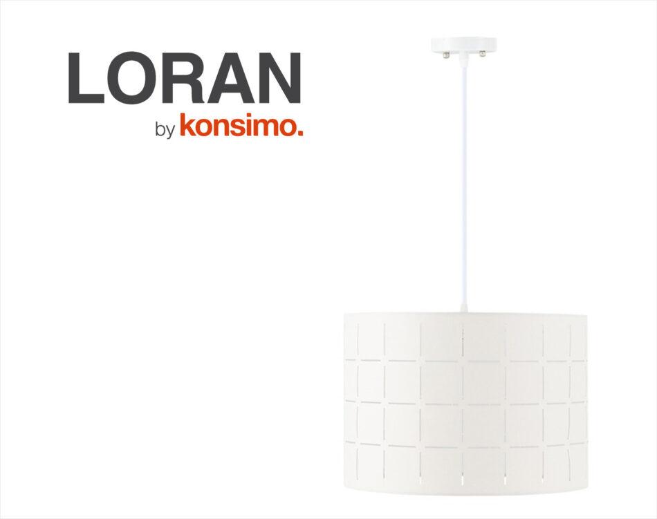 LORAN Lampa wisząca biały matowy/kremowy - zdjęcie 4