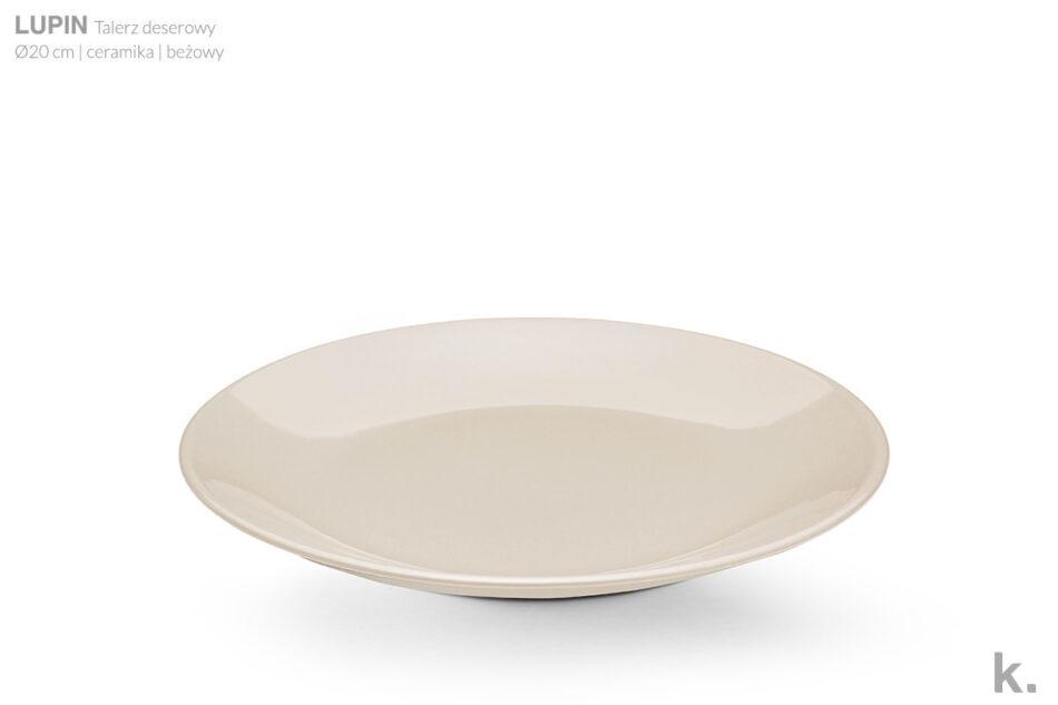 LUPIN Zestaw obiadowy dla 6 osób beżowy beżowy - zdjęcie 4