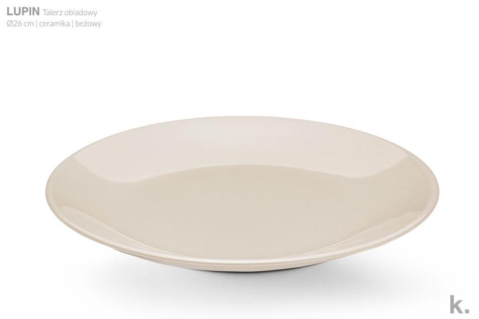 LUPIN Zestaw obiadowy dla 6 osób beżowy beżowy - zdjęcie 5