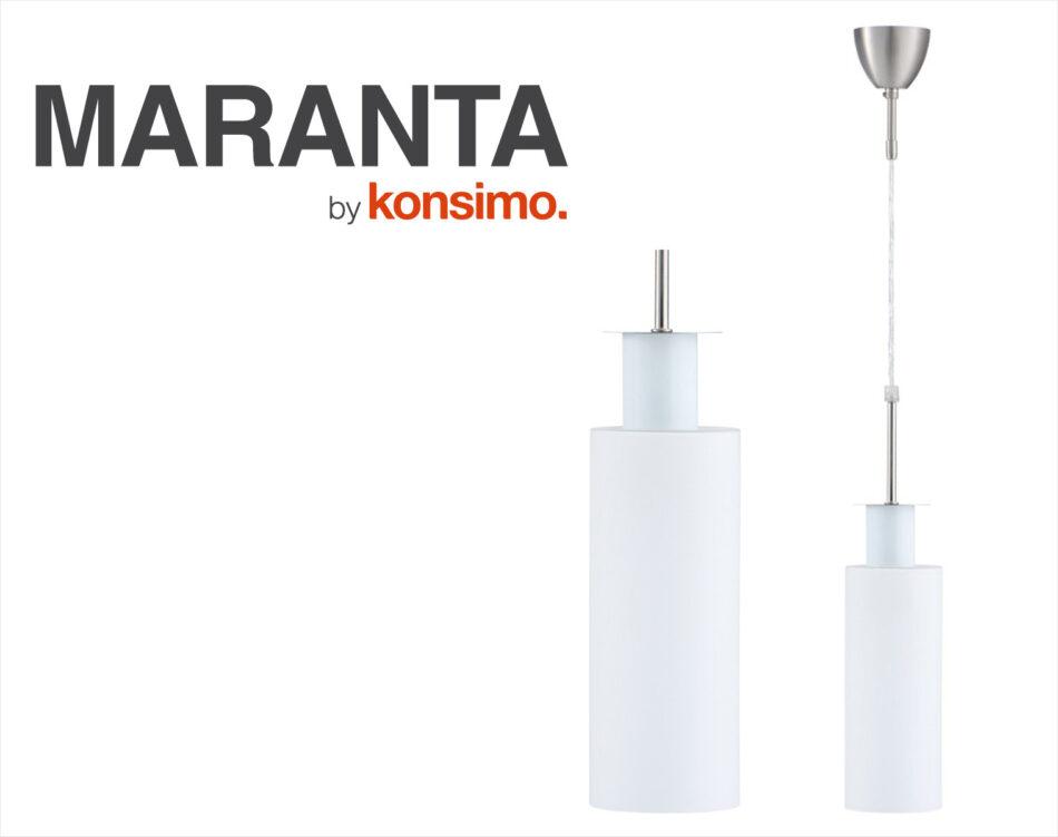 MARANTA Lampa wisząca mleczny biały - zdjęcie 4