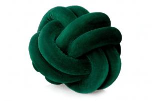 NANCY, https://konsimo.pl/kolekcja/nancy/ Poduszka ozdobna ciemny zielony - zdjęcie