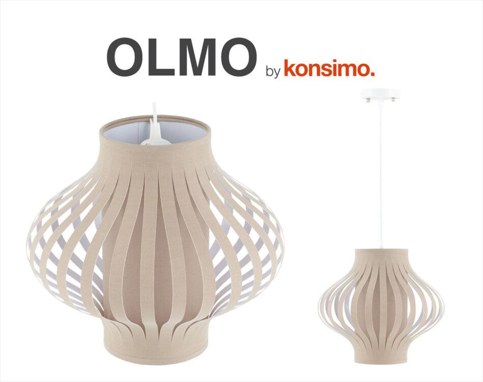 OLMO Lampa wisząca biały/beżowy - zdjęcie 2