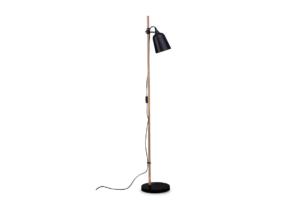 PLISO, https://konsimo.pl/kolekcja/pliso/ Lampa podłogowa czarny - zdjęcie